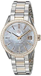 TAG Heuer Women's WAR1353.BD0774 Carrera Analog Display Swiss Quartz Rose Gold Watch