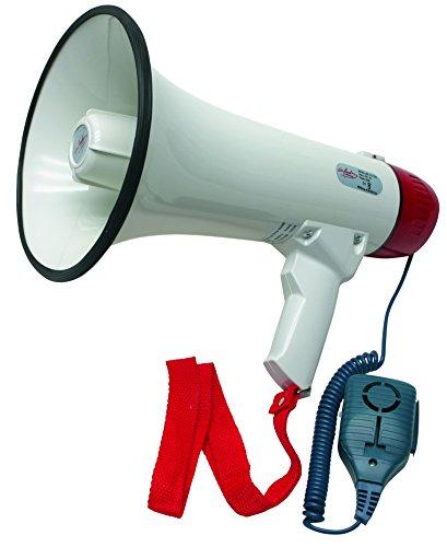 infactory Megaphon Deluxe 25 Watt - Mit abnehmbarem Mikrofon für ein besonders bequemes Handling