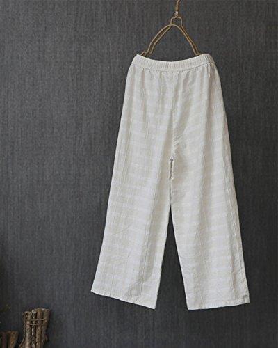 lino de lino algod de de Pantalones Pantalones lino algod de Pantalones de ERwxR8qg