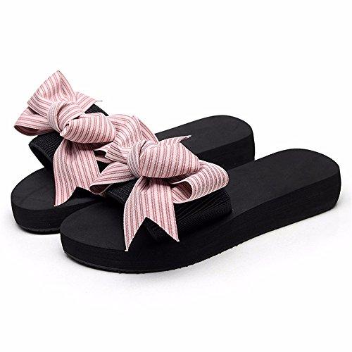 Beach c de sweet femme d'été plage mode FLYRCX bow Resort chaussures chaussons antiskid Piscine cool qF766w4g