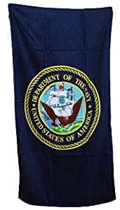 Military - United States Navy Beach Towel - Navy