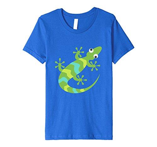 Kids Gecko Lizard Sleeker Costume Emoji Emoticon Cute T Shirt Tee 12 Royal (Gecko Adult Costumes)