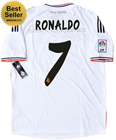 another chance 1f0a9 78c01 Amazon.com: NEW 2013-14 REAL MADRID HOME SOCCER JERSEY ...
