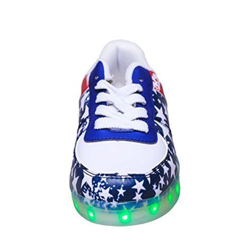 Present Red 7 Led Stars small F towel Up Light Colors Shoes JUNGLEST gPT1grxn