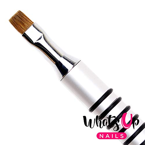 Whats Up Nails - Pure Color #3 Flat Brush for Clean Up Cuticles Skin Around Nail