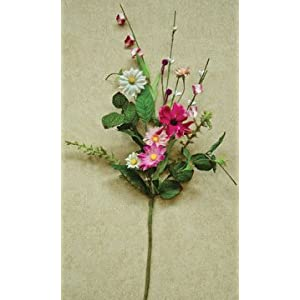 Aster Daisy Pick Magenta Pink Ivory Flowers Country Primitive Floral Décor 26