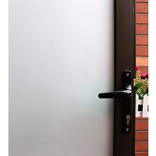 White Frosted Window Films, Static Cling Glass Door Film, High Privacy Window Tints, Removal Window Decoration / Stained Glass/ Block UV for Bathroom, Bedroom, Office, Meeting Room,35In. By 118In. (High White Vinyl)