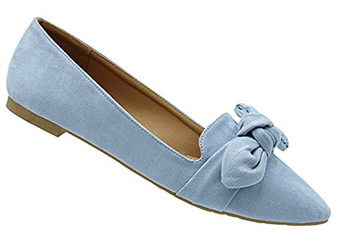 2eaa6a110ed Womens Casual Comfortable Chic Canvas Flat Ankle Strap Shoe Ballet Flat  Turquoise Micro Suede Almond Toe