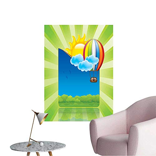 (Wall Decorative Spring Frame with hot air Balloon and Sun Pictures Wall Art Painting,12