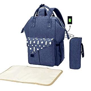 Baby Diaper Bag Backpack Built-in USB Charging Port Large Diaperbags Nappy Rucksack