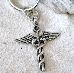 Trilogy Jewelry Caduceo médico Enfermera médico Llavero ...