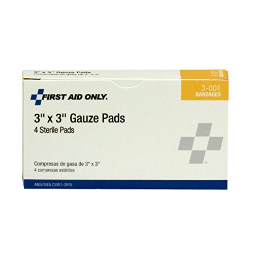 Pac-Kit by First Aid Only 3-001 Gauze Pad, 3