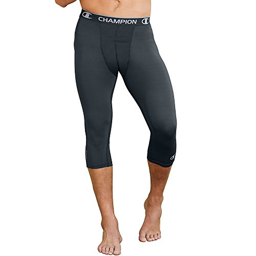 Champion Men's Powerflex 3/4 Tight, Stealth, Large from Champion