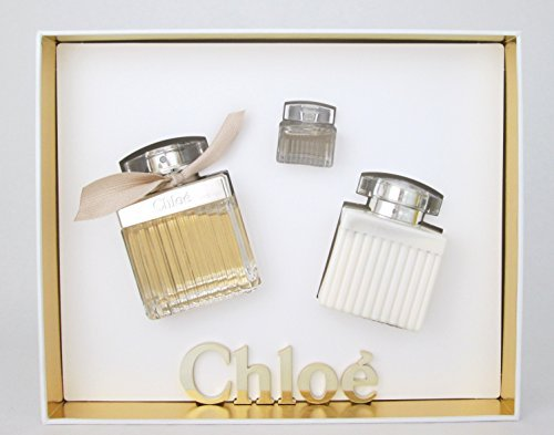 Chloe Perfume Gift Set For Women: Eau De Parfum 2.5 oz + Perfumed Body Lotion 3.4 oz + Eau De Parfum 0.17 oz (mini)