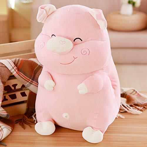 DONGER Niedliches Schwein Puppe Puppe Schlafkissen Lustiges Spielzeug Schwein Puppe Mädchen Geburtstagsgeschenk Niedlich, Beige, 30 cm