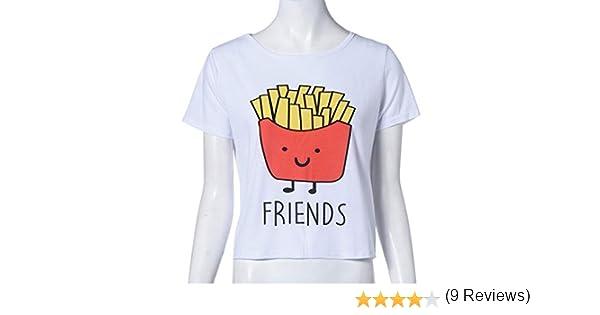 QHGstore Camiseta de impresión divertida Camisetas de algodón de las mejores amigas camisetas Tops camiseta de manga corta NO.1 L: Amazon.es: Ropa y accesorios