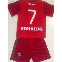 Générique Maillot ET Short Foot Portugal Ronaldo 14 Ans