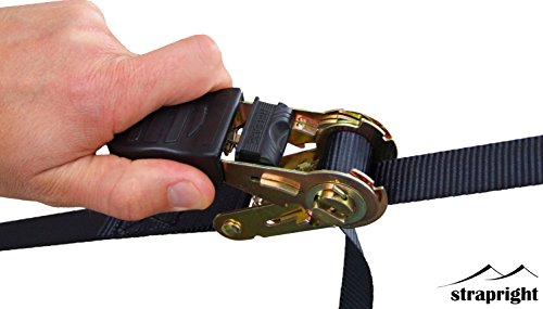 Strapright 4 Ratchet Tie Down Straps 20ft Adjustable
