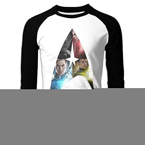 HROSE American Science Fiction Action Film Men Baseball Athletic Reglan Sleeve Crew Neck T-shirt Medium