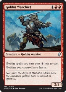 Goblin Warchief - Foil - Dominaria