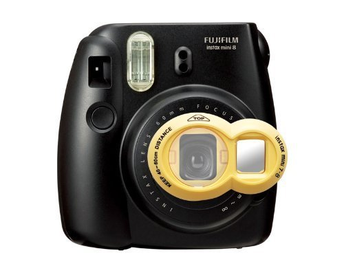 CLOVER Close-Up Lens for Fujifilm Instax Mini 7S Mini 8 Cameras Self-Portrait Mirror - Yellow (Best Camera For Self Portraits)