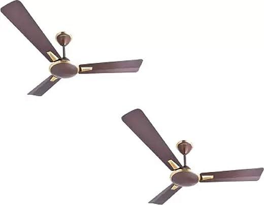 Crompton Aura Prime Pack of 2 1200 mm 3 Blade Ceiling Fan (Dusky Brown, Pack of 2)