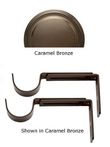 Designer Metals Curtain and Drapery Pole Brackets (Caramel bronze) by Kirsch Designer Metals