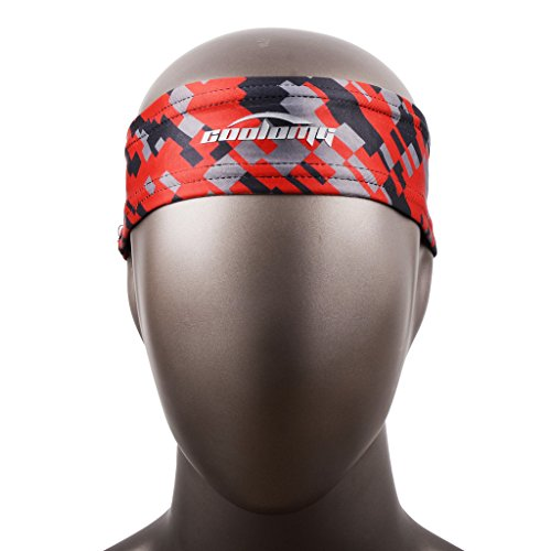 COOLOMG Headbands Printing Moisture Stretchy