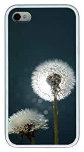 Dandelions Close up TPU Polycarbonate Hard Case Back Cover for iPhone 4S and iPhone 4 White