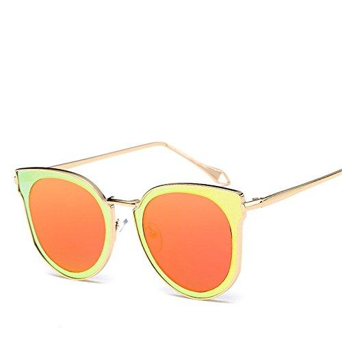 Aoligei Européens et américains de riz clous réflectorisé fashion lady lunettes de soleil lunettes de soleil Fashion en métal an8pvXx