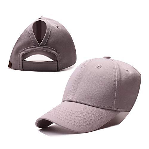 野球帽のキャップンスタイルのオープンポニーテールキャップ カスタマイズ 帽子,灰色,CCマークなし