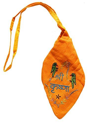 Handmade Krishna Japa Bead Bag / Gomukhi For Mantra Meditation (Mala Bag)