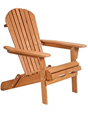 FDW Folding Wooden Lounger Weather Chair for Fire Pit/Garden/Fish with 250lbs Duty Rating,Natural