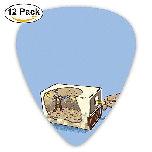 Guitar Picks Pencil Sharpener Medium Customized Complete Assorted 12 Pack