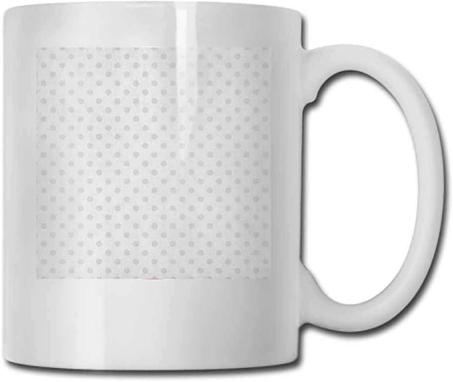 Taza de té gris DHGER Patrón tipo rompecabezas con piezas simétricas y fractales en tonos ahumados Ilustración moderna Bebida Paloma 11oz