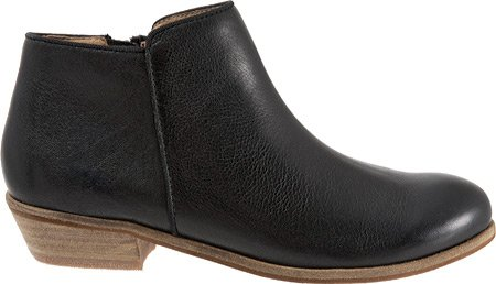 Women's Boot SoftWalk Black Leather Tumbled Chelsea Rocklin gAnwqp8
