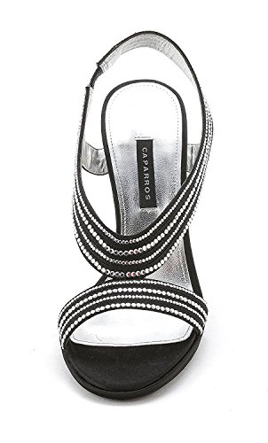 Caparros Women's Tyra Slingback Sandal Black Satin n7WmZ