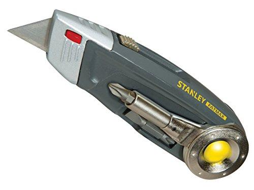 Stanley FatMax Multitool, Messer mit einziehbarer Trapezklinge, PH1/PH2/Schlitz 4,5,6mm Bit, Kombizange, 0-71-024