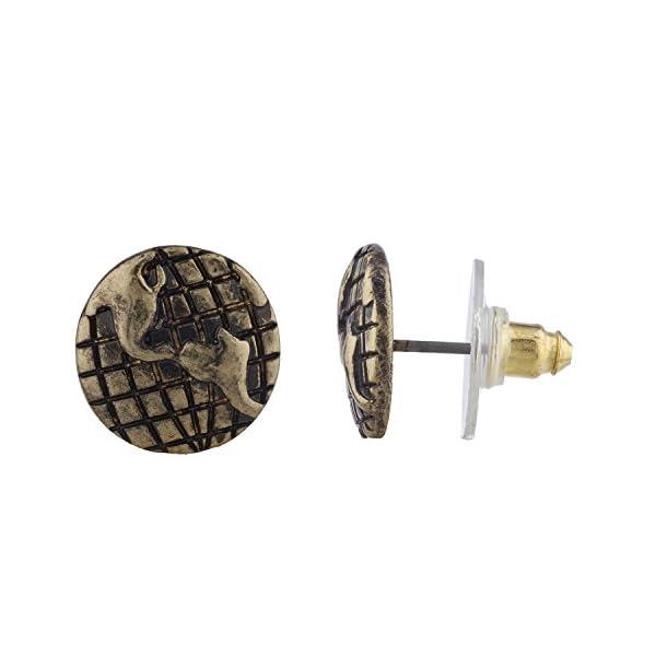 Lux Accessories Burnish Gold Tone Steampunk World Traveler Stud Multi Pack 3PR 5