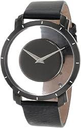 Akribos XXIV Men's AKR412BK Spacely Floating Black Quartz Watch