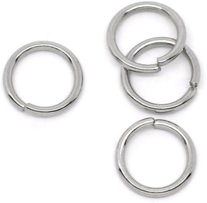 4mm 100pcs 1mm 18 Gauge Stainless Steel Jump Rings Jewelry Findings Open Split