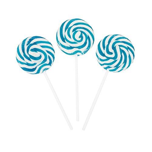 Fun Express - Swirl Pops (Light Blue) (1-Pack of 24) ()