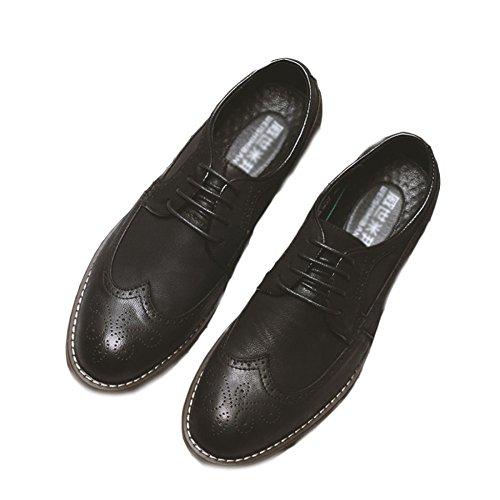 Printemps Bullock Le En Rétro Black Cuir Chaussures Chaussures Astuce Chaussures Nouveau Sculpté Yra Pour D'affaires Hommes Travail Hommes fIEq11