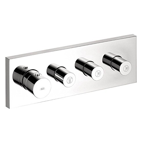 Axor 10751001 Starck, Thermostatic Shower System Trim with  3 Volume Controls in Chrome