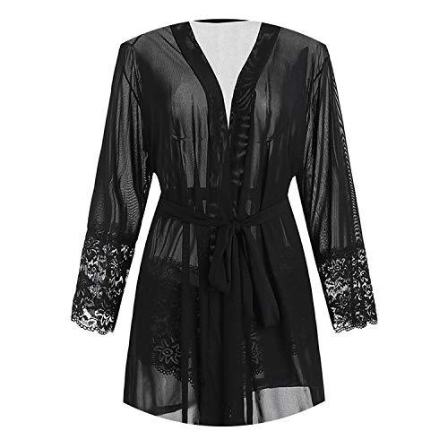 Pursuit-of-self Plus Size Lace Sex Lingerie Chemise Big Size See Through Hot Transparent Costume Dress,XL