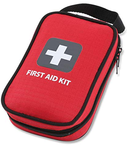 First Aid Kit - 100 Pieces - Bag. Packed with Hospital Grade Medical Supplies for Emergency and Survival situations. Ideal for The Car, Camping, Hiking, Travel, Office, Sports, Pets, Hunting, Home