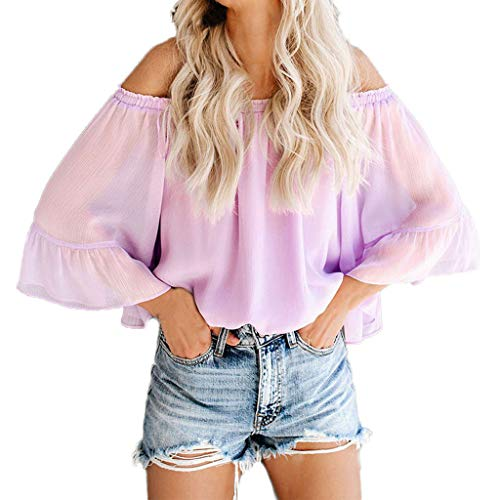Big Sale YetouWomen Vest Summer Tank Tops Women Sleeveless Round Neck Loose T Shirt Ladies Vest Purple