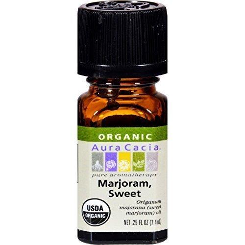 Aura Cacia Organic Essential Oil - Marjoram Sweet - .25 oz - pack of - 12 by Aura Cacia ()