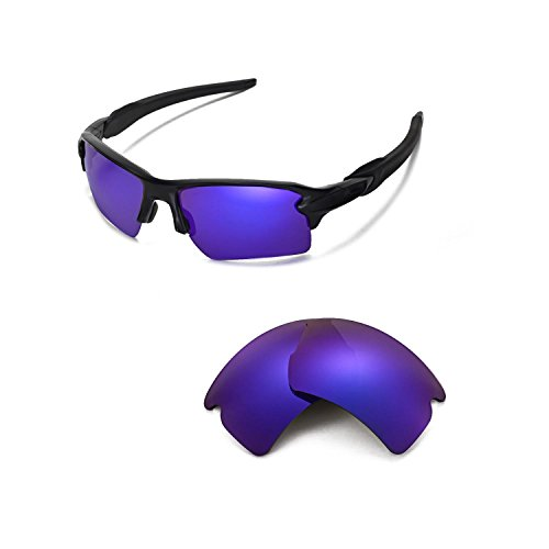 d9206bde8c Walleva Replacement Lenses for Oakley Flak 2.0 XL Sunglasses - Multiple  Options Available (Purple Coated