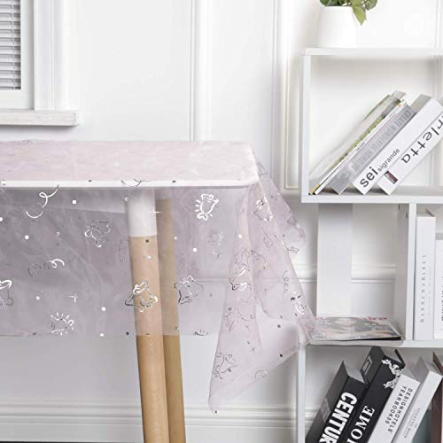 SUO AI TEXTILE Decorative Table Cloth Polyester Tablecloths Girls Stylish Table Protector Starry Sky Table Cover for Party Wedding BanquetRooms Decoration 60